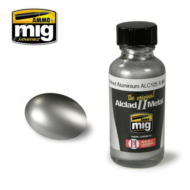 Ammo by Mig Jimenez Alclad by Ammo - Polished Alumimium Alc105 - 30ml - A.MIG-8204