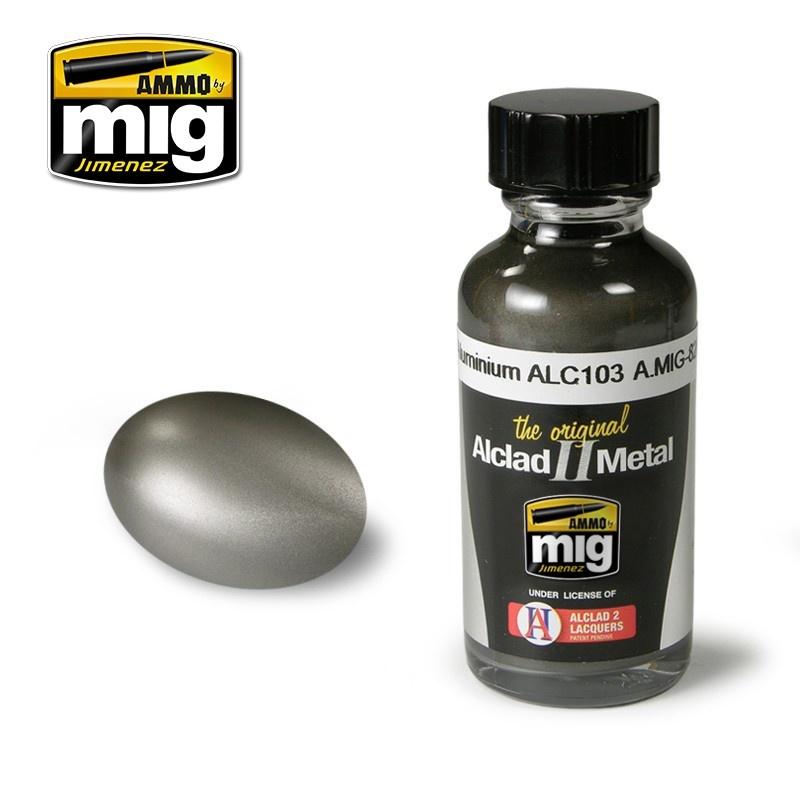 Ammo by Mig Jimenez Alclad by Ammo - Dark Aluminium Alc103 - 30ml - A.MIG-8203