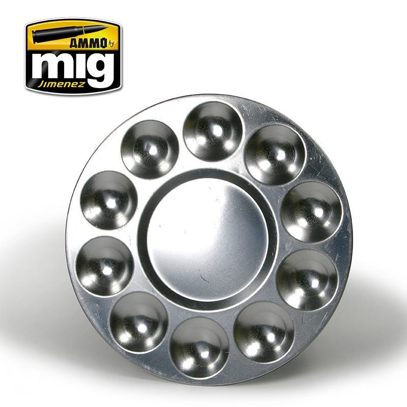 Ammo by Mig Jimenez Aluminium Pallet (10 Wells) - A.MIG-8009