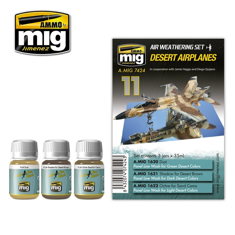 Ammo by Mig Jimenez Airplane Weathering Sets - Desert Airplanes - A.MIG-7424