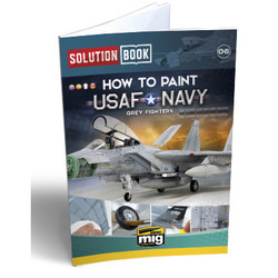 Usaf Navy Grey Fighters Solution Book - Multilingual Book - Ammo by Mig Jimenez - A.MIG-6509
