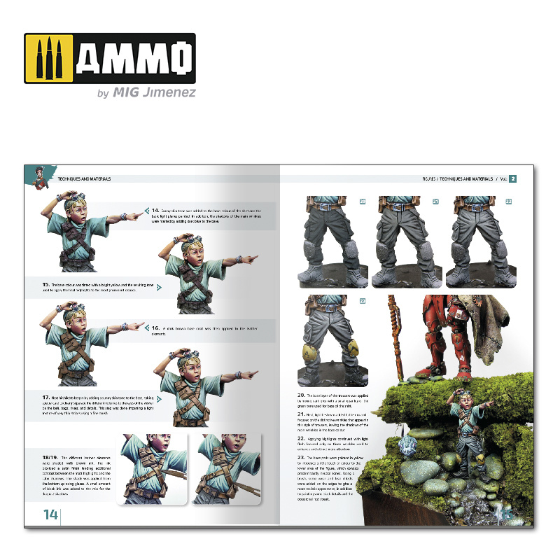 Ammo by Mig Jimenez Encyclopedia Of Figures Modelling Techniques Vol. 2 - Techniques And Materials English - A.MIG-6222