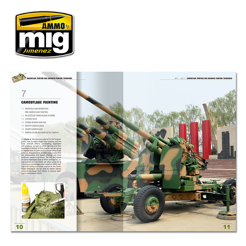 Ammo by Mig Jimenez Encyclopedia Of Armour Modelling Techniques Vol. 3 - Camouflage English - A.MIG-6152