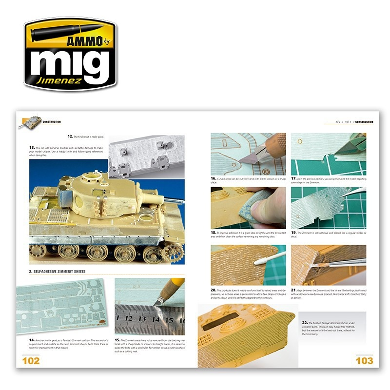 Ammo by Mig Jimenez Encyclopedia Of Armour Modelling Techniques Vol. 1 - Construction English - A.MIG-6150