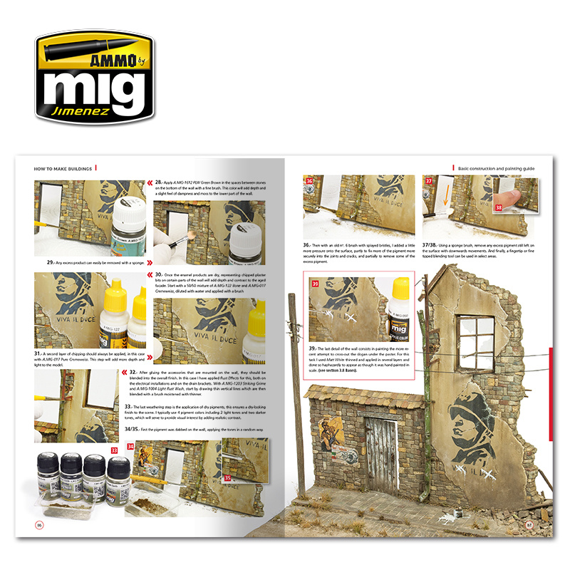 Ammo by Mig Jimenez How To Make Buildings. Basic Construction And Painting Guide  English - A.MIG-6135