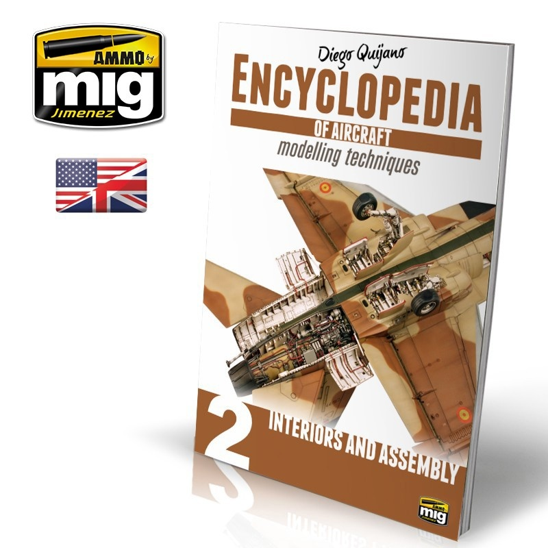 Ammo by Mig Jimenez Encyclopedia Of Aircraft Modelling Techniques - Vol.2 - Interiors And Assembly English - A.MIG-6051