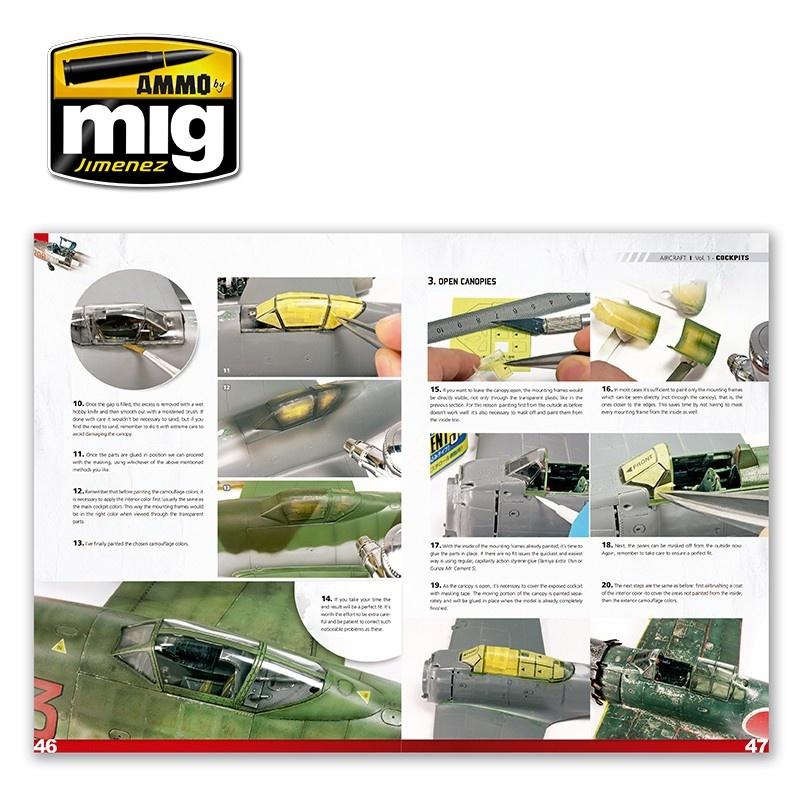 Ammo by Mig Jimenez Encyclopedia Of Aircraft Modelling Techniques - Vol.1 - Cockpits English - A.MIG-6050