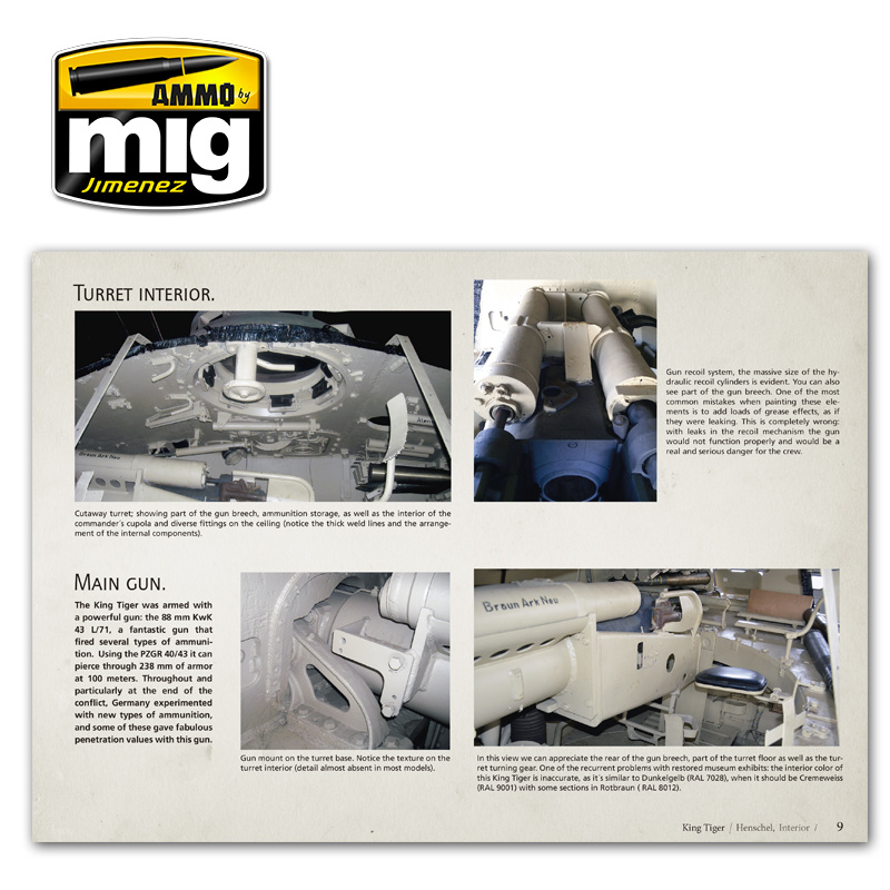Ammo by Mig Jimenez King Tiger - Visual Modelers Guide English - A.MIG-6022