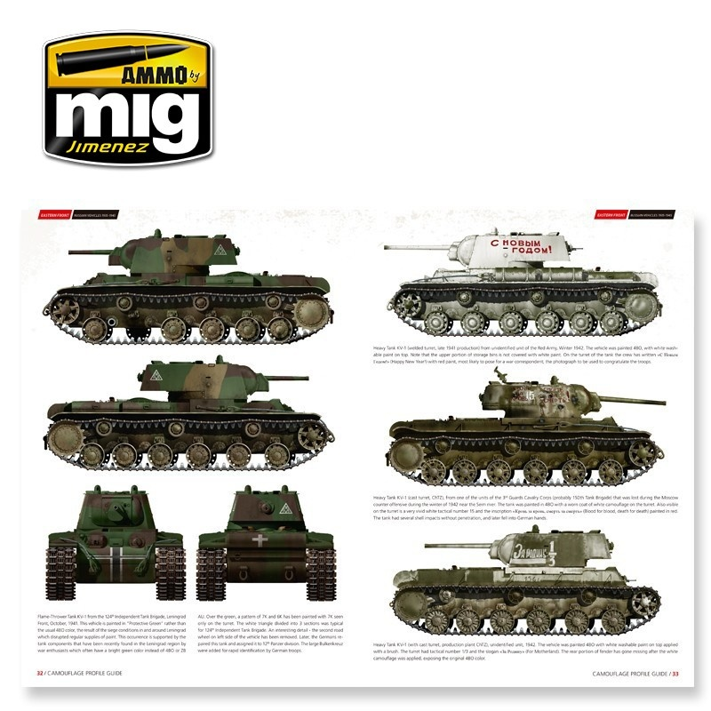 Ammo by Mig Jimenez Eastern Front. Russian Vehicles 1935-1945. Camouflage Guide English - A.MIG-6007