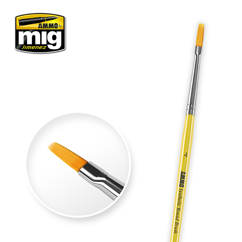 Ammo by Mig Jimenez 4 Syntetic Flat Brush - A.MIG-8620