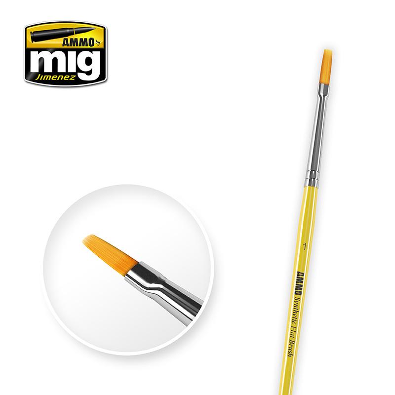 Ammo by Mig Jimenez 1 Synthetic Flat Brush - A.MIG-8619