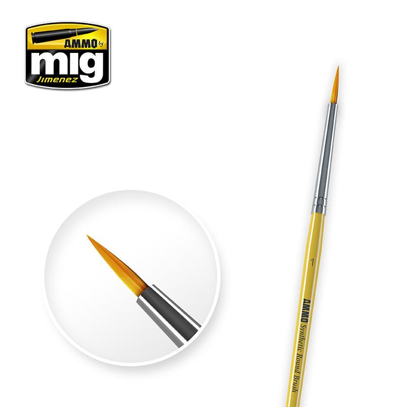 Ammo by Mig Jimenez 1 Synthetic Round Brush - A.MIG-8613