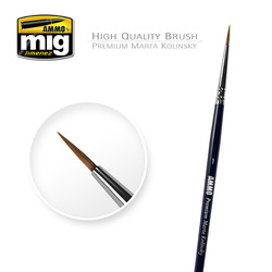 1/0 Premium Marta Kolinsky Round Brush A.MIG-8602