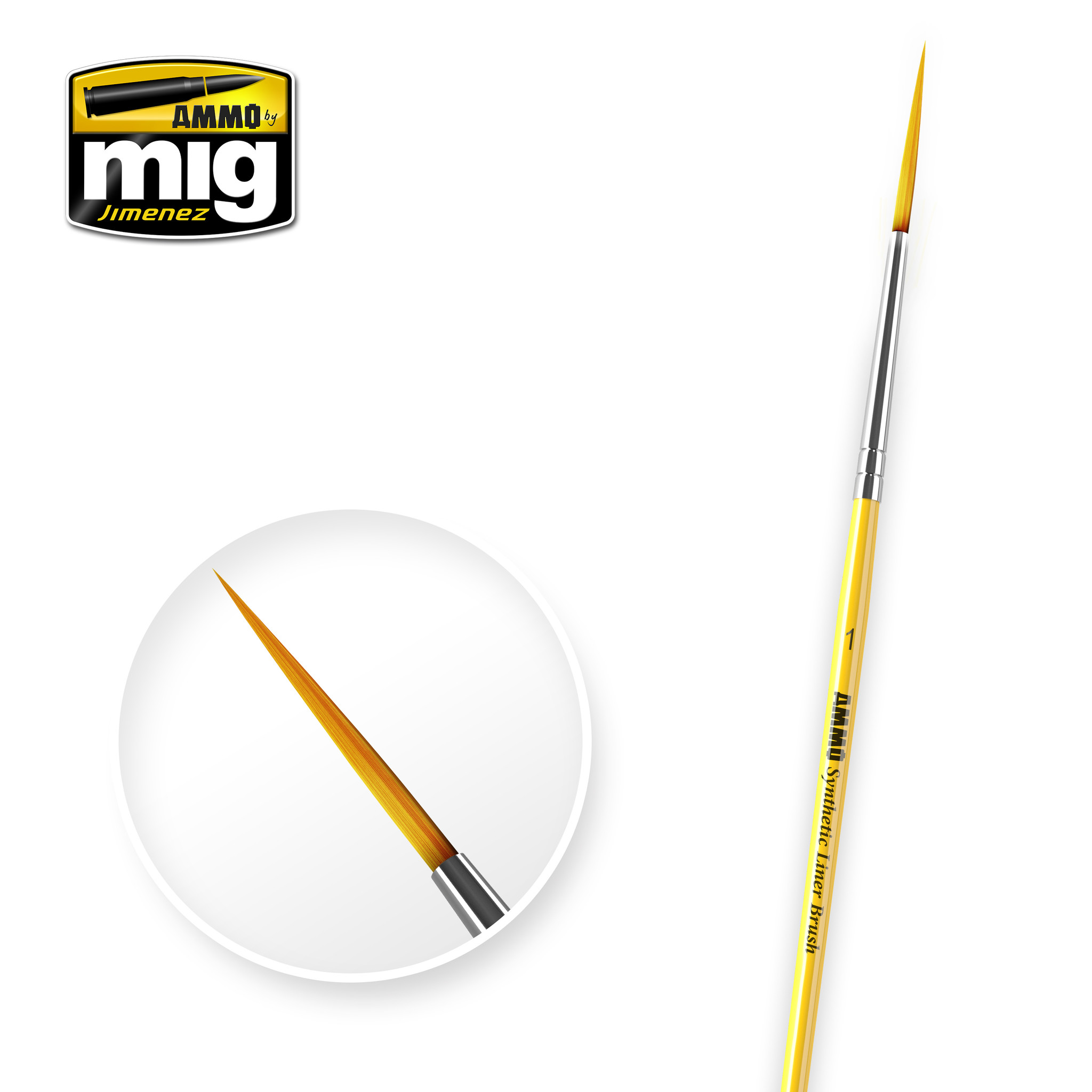 Ammo by Mig Jimenez 1 Synthetic Liner Brush - A.MIG-8591