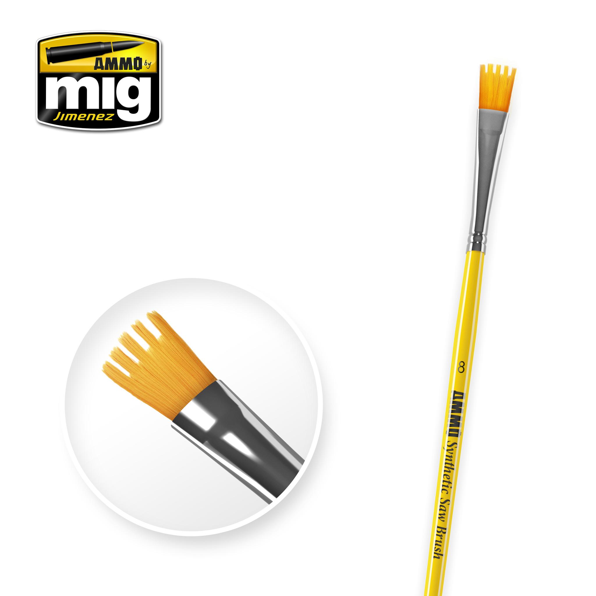 Ammo by Mig Jimenez 8 Syntetic Saw Brush - A.MIG-8585