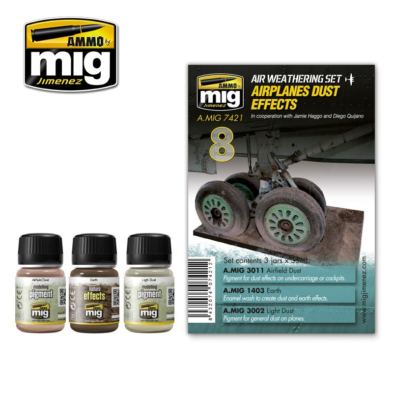 Ammo by Mig Jimenez Airplane Weathering Sets - Airplanes Dust Effects - A.MIG-7421