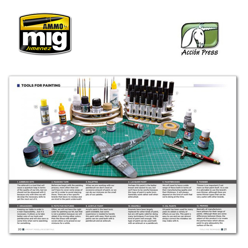 Ammo by Mig Jimenez Aircraft Modelling Essentials  English - EURO-0014