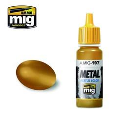 Metal Acrylics - Brass - 17ml - A.MIG-0197