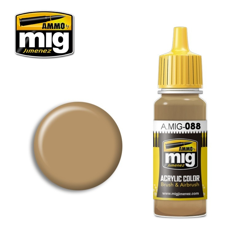 Ammo by Mig Jimenez Khaki Brown - 17ml - A.MIG-0088