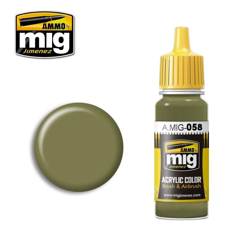 Ammo by Mig Jimenez Light Green Khaki - 17ml - A.MIG-0058