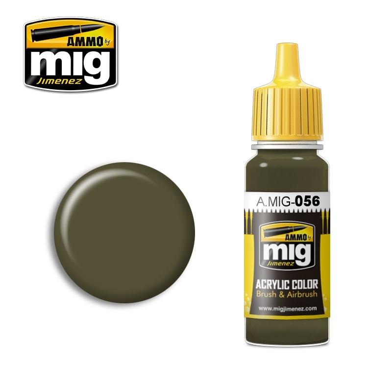 Ammo by Mig Jimenez Green Khaki (RLM 83) - 17ml - A.MIG-0056