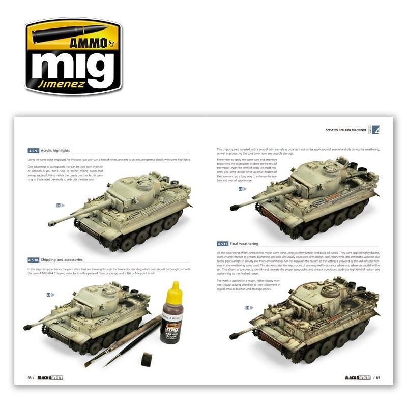 Ammo by Mig Jimenez Black & White Technique  English - A.MIG-6016