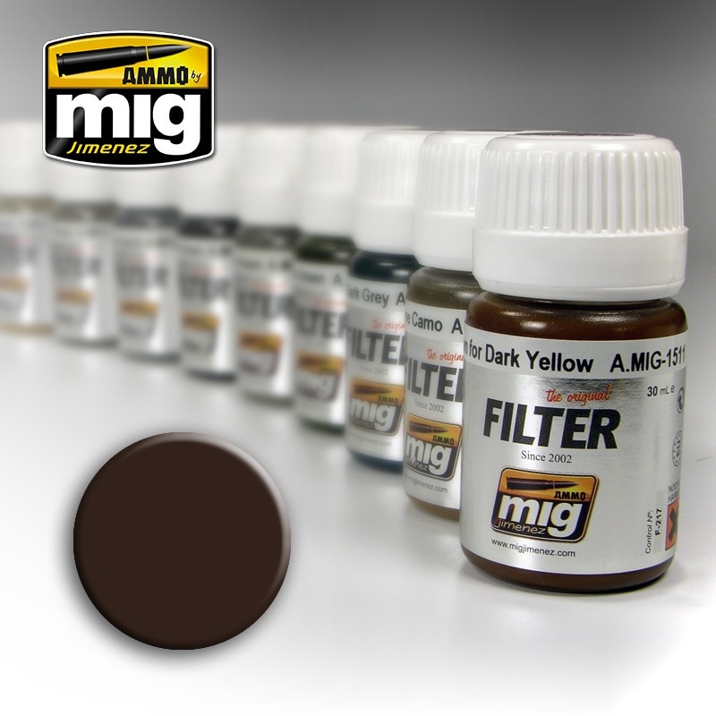 Ammo by Mig Jimenez Filter - Brown For Dark Yellow - 35ml - A.MIG-1511