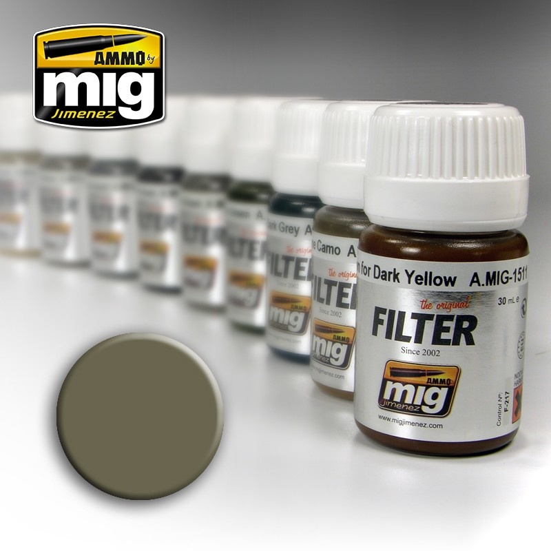 Ammo by Mig Jimenez Filter - Tan For Yellow Green - 35ml - A.MIG-1507