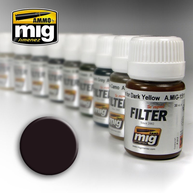 Ammo by Mig Jimenez Filter - Brown For Dark Green  - 35ml - A.MIG-1506