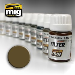 Filter - Brown For Desert Yellow  - 35ml - A.MIG-1504
