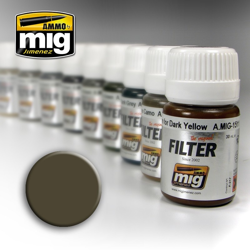 Ammo by Mig Jimenez Filter - Dark Grey For White  - 35ml - A.MIG-1502