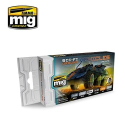 Sci-Fi Ground Vehicles Color Set - A.MIG-7155