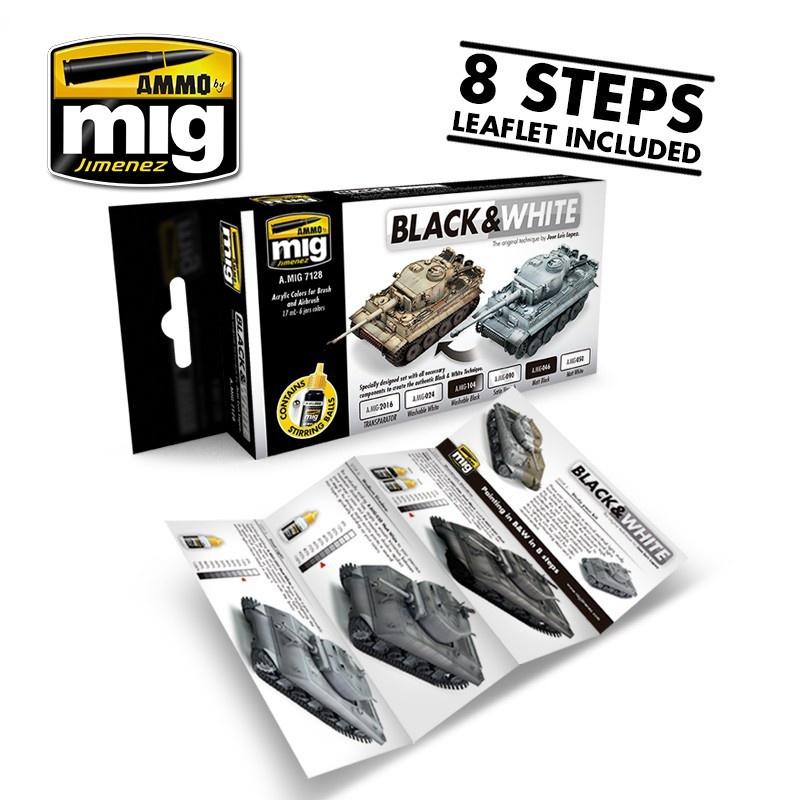 Ammo by Mig Jimenez Black & White Technique - A.MIG-7128