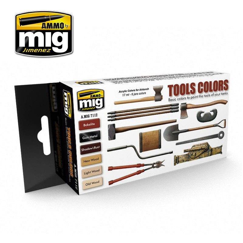 Ammo by Mig Jimenez Tool Colors - A.MIG-7112