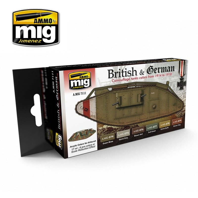 Ammo by Mig Jimenez I Ww British & German Colors - A.MIG-7111