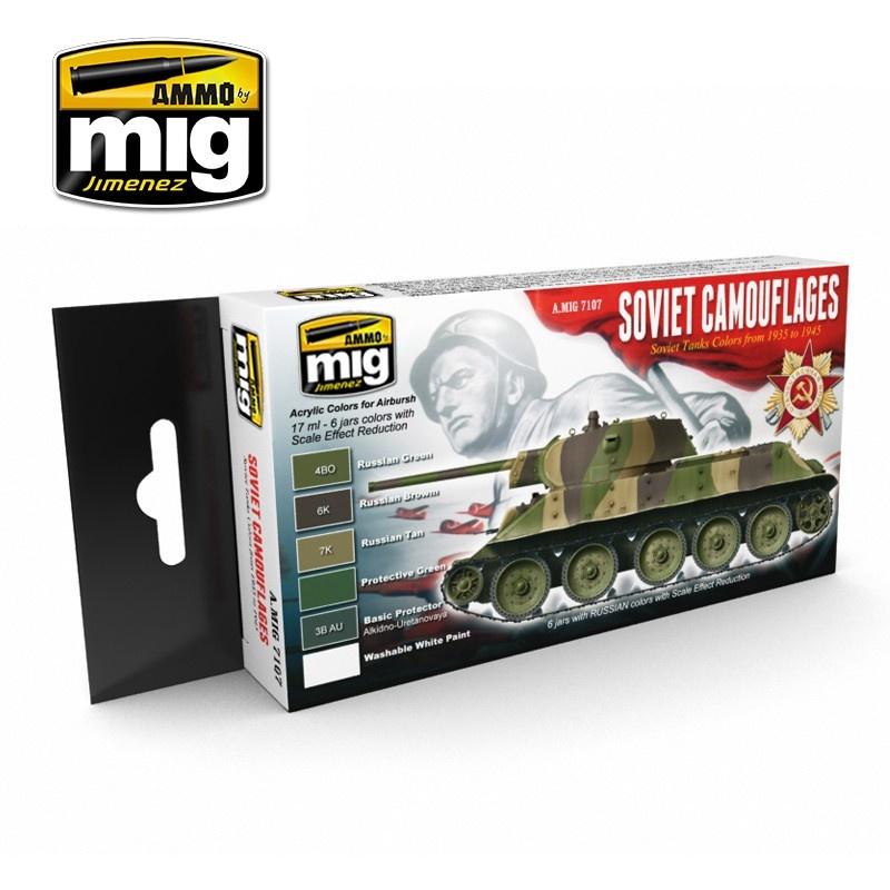 Ammo by Mig Jimenez 1935-1945 Soviet Camouflages Set - A.MIG-7107