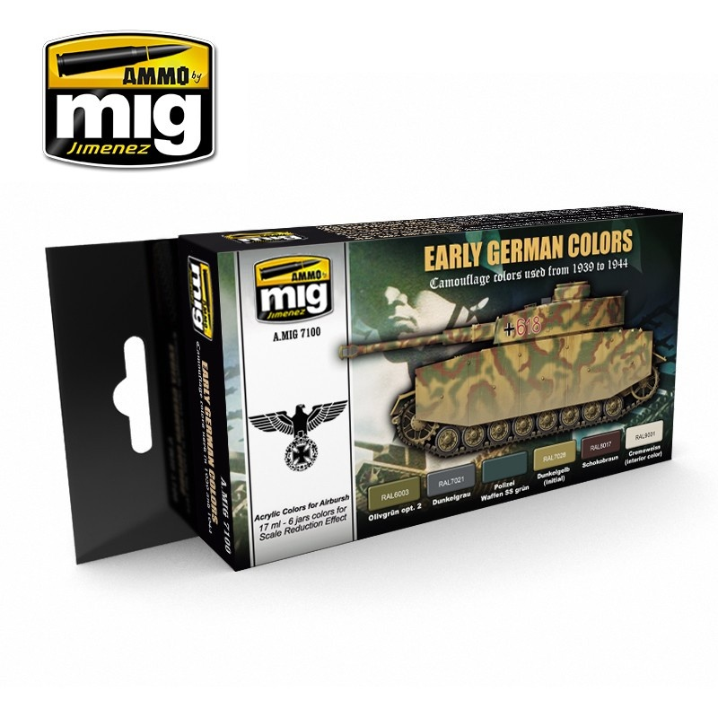Ammo by Mig Jimenez Early / Middle German Colors - A.MIG-7100
