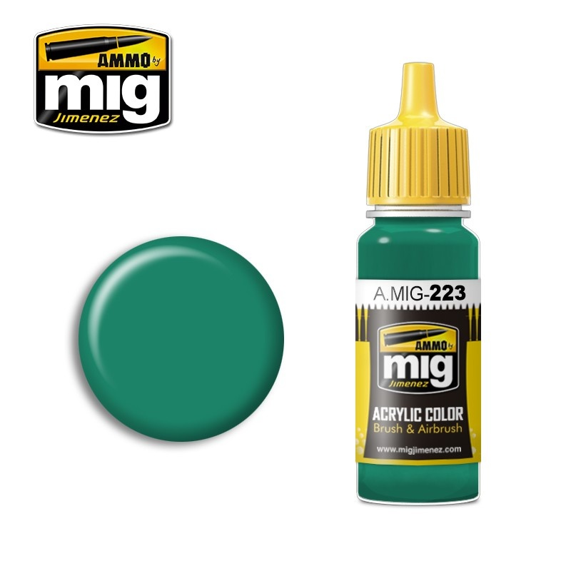 Ammo by Mig Jimenez Interior Turquoise Green - 17ml - A.MIG-0223
