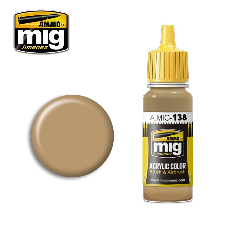 Ammo by Mig Jimenez Desert Yellow - 17ml - A.MIG-0138