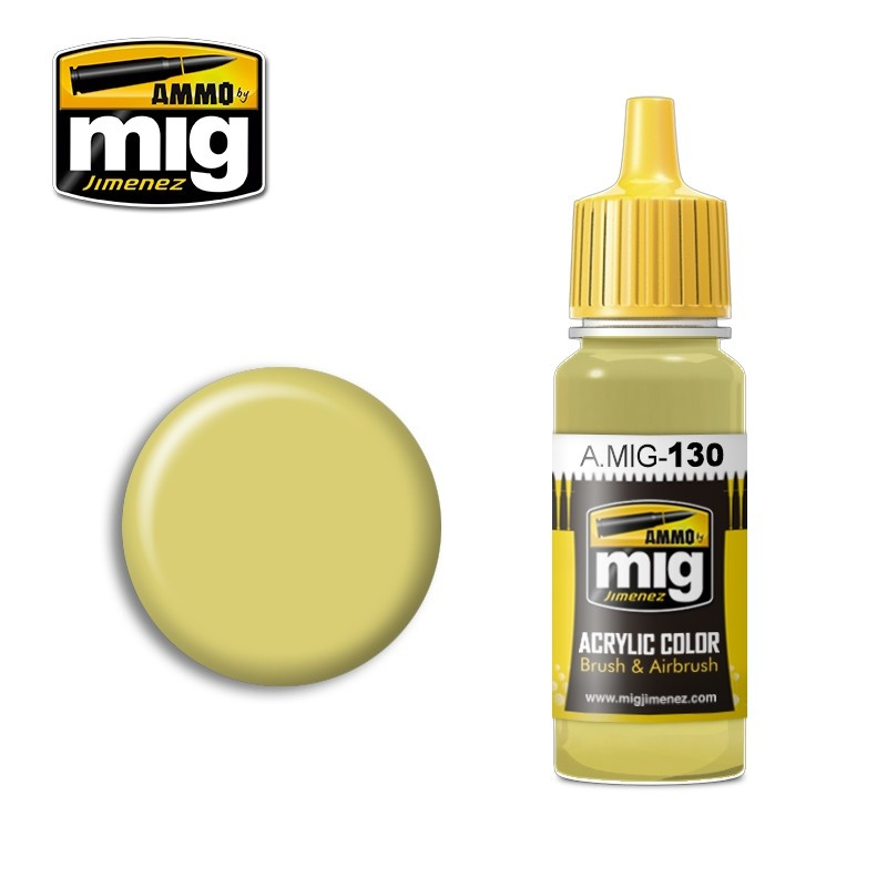 Ammo by Mig Jimenez Faded Yellow - 17ml - A.MIG-0130