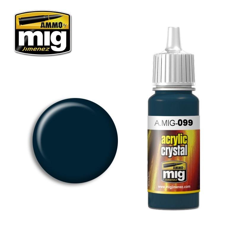 Ammo by Mig Jimenez Crystal Acrylics - Crystal Black Blue (And Tail Light Off) - 17ml - A.MIG-0099