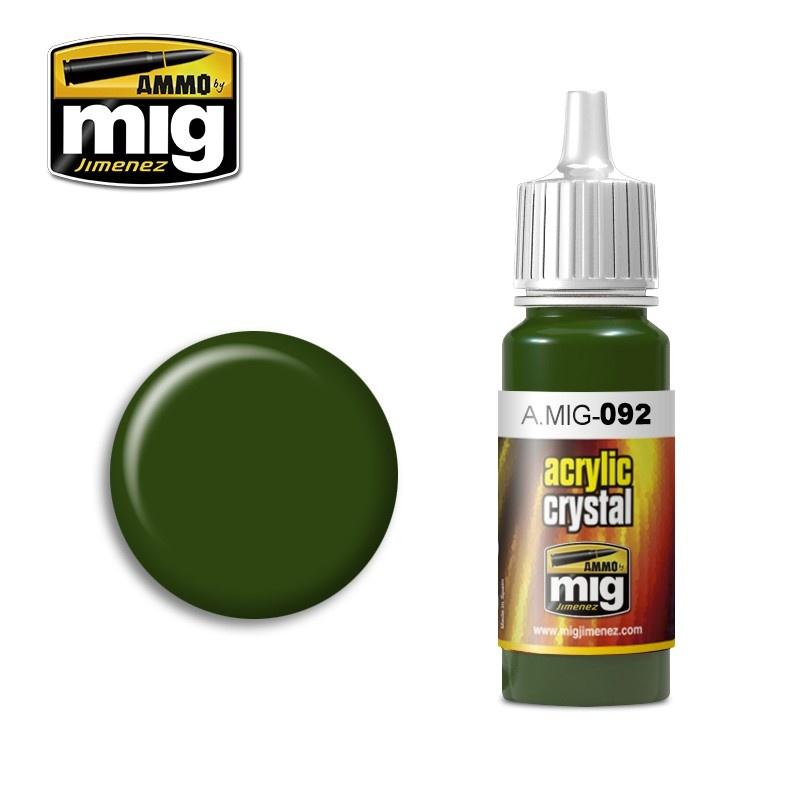 Ammo by Mig Jimenez Crystal Acrylics - Crystal Green - 17ml - A.MIG-0092