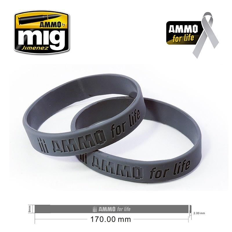 Ammo by Mig Jimenez Ammo For Life: Cancer Research Donation Bracelet Small - Ammo by Mig Jimenez - A.MIG-8021S