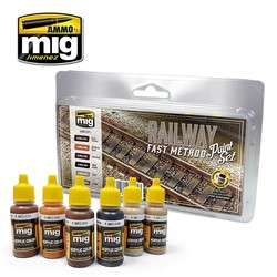 Railway Fast Method Paint Set - Ammo by Mig Jimenez - A.MIG-7471