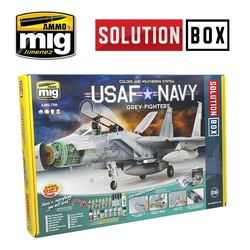 Solution Box 06 USAF NAVY Grey Fighters - Ammo by Mig Jimenez - A.MIG-7709