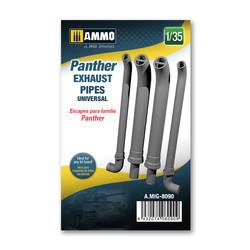 Panther exhausts pipes universal - Ammo by Mig Jimenez - A.MIG-8090
