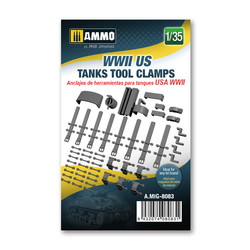 WWII US tanks tool clamps - Scale 1/35 - Ammo by Mig Jimenez - A.MIG-8083