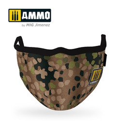 """Ammo Face Mask """"Erbsenmuster"""" (Hygienic Protective Mask 100% Polyester) - Ammo by Mig Jimenez - A.MIG-8067"""