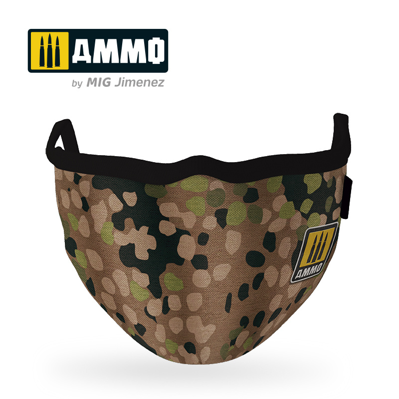 "Ammo by Mig Jimenez Ammo Face Mask ""Erbsenmuster"" (Hygienic Protective Mask 100% Polyester) - Ammo by Mig Jimenez - A.MIG-8067"