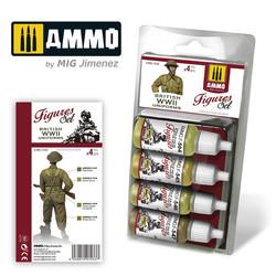 British Uniforms WWII. Figures Set - Ammo by Mig Jimenez - A.MIG-7033